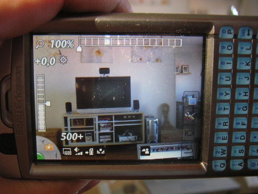 Kameraläget på P990i